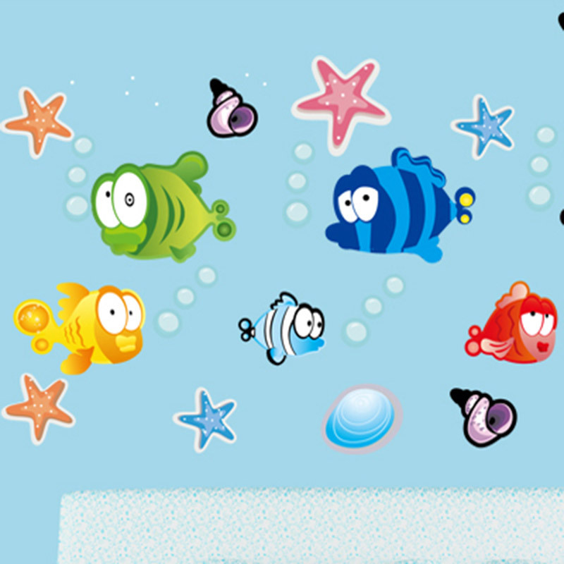 Flounder Finding Nemo Children Room Cartoon Wall Stickers Cute Flounder Dancing Home Decor Wall Sticker
