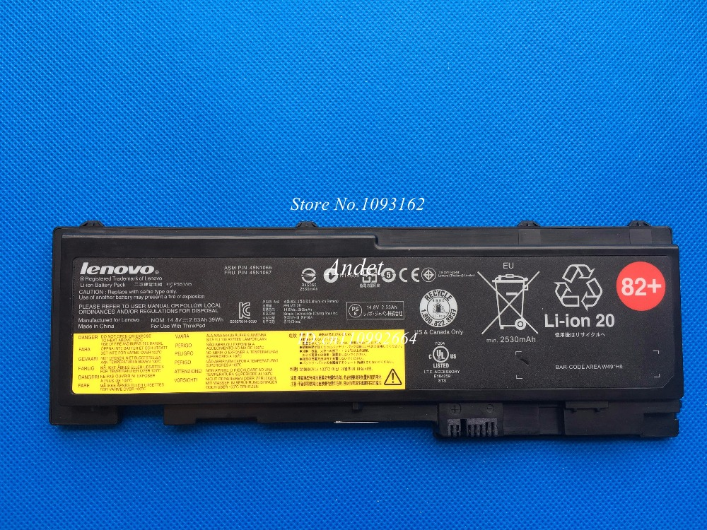 New Original Battery For Lenovo ThinkPad T430s T430si 4 Cell 45N1065 45N1067 82+ 39wh