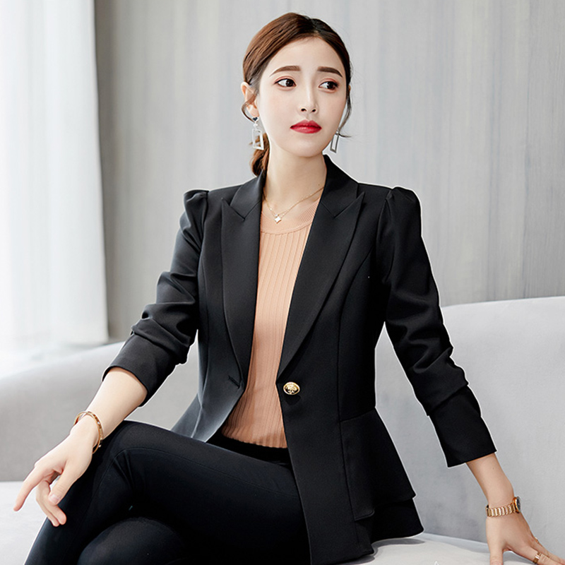 Careful Women Office Suit Jackets Coat Slim Short Design Long Sleeve Ladies Blazer Girls Work Wear Jacket Clothing Wine Gray Blue Blazers Back To Search Resultswomen's Clothing