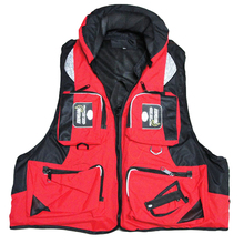 ФОТО l-xxl outdoor vest fishing vest life vest adult polyester drifting boating survival safety jacket water swimming life jacket