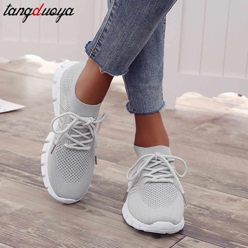 נעלי ספורט נשים נעלי ספורט נשים נעלי ריצה לנשים סניקרס תחרה עד נעלי ספורט נשים גרב נעליים לנשימה רשת נעלי נשים קיץ ספורט נעלי אישה אתלטי