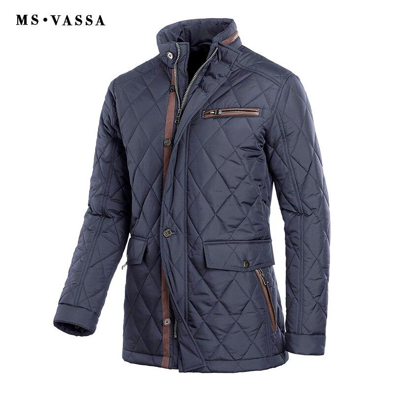 MS VASSA Hommes Parkas Plus La Taille D'hiver Vestes 2018 Nouveau Automne Manteaux Rembourrage Col montant Survêtement Décontracté Rembourré 5XL 11XL