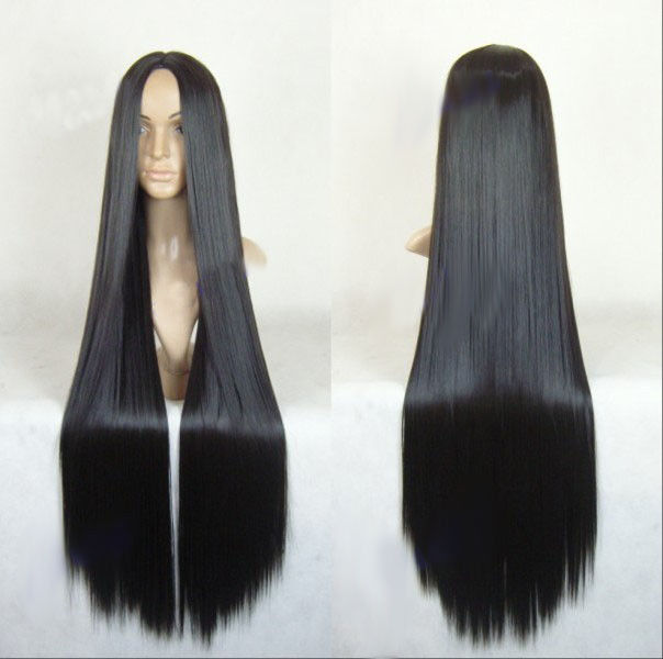 Sexy Women Full Long Straight Hair Wigs Cosplay Costume Party Black Wig ...