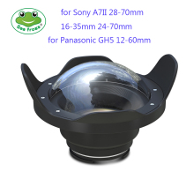 Seafrogs 6 inch Dry Dome Port for Meikon SeaFrogs Housings 40M 130FT Underwater Camera Fisheye Sony A7 II Panasonic GH5