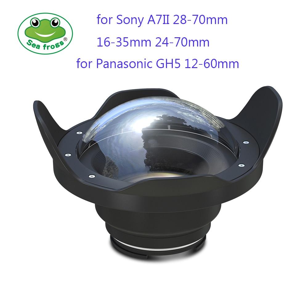 Seafrogs 6 polegada Seca Cúpula Porta para Caixas SeaFrogs 40 M 130FT Meikon Subaquática Câmera Olho de Peixe para Sony A7 II Panasonic GH5