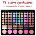 Nuevo Maquillaje Profesional Set Pro 78 A Todo Color de Sombra de Ojos brillo de Labios Colorete Paleta de Sombra de Ojos Kit de Cosméticos