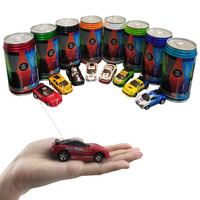 New Cans Type Remote Control Car 1 63 High Speed Drift Rechargeable Mini Car Toy Random