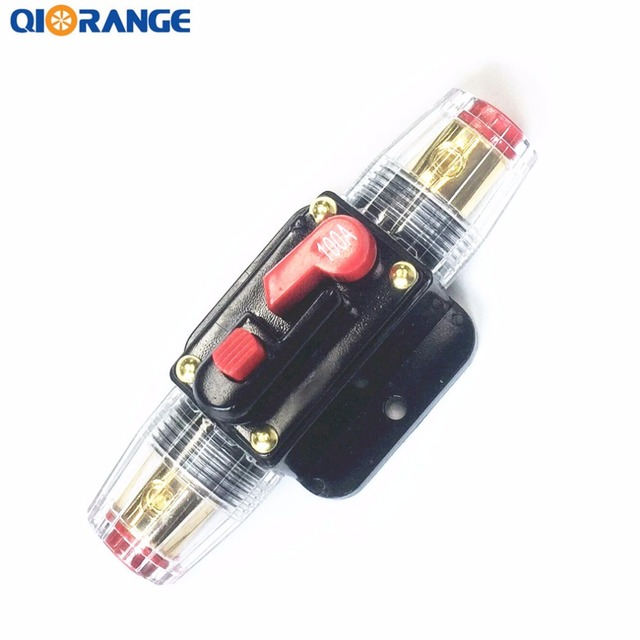 Special Offers QIORANGE 100A 12V Car Truck Audio Amplifier Circuit Breaker Reset Fuse Holder Inline Circuit Stereo Amplifier Refit Fuse Adapter