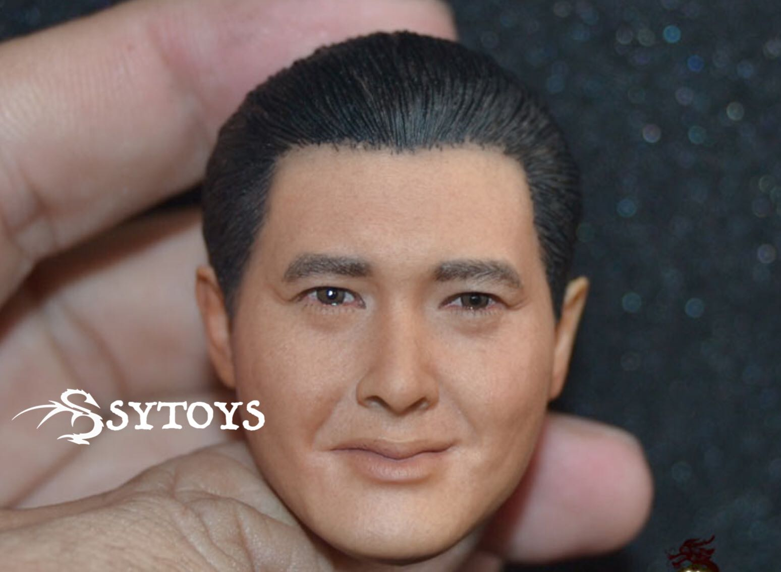SYTOYS 1:6 Action Figure Accessory Custom 1/6 Soldier God of Gamblers Zhou Runfa Chow Head Carving  for 12 Figure Doll Toys burning the soul of 1 6 negan head carving the walking dead soldier head carving for 12 figure doll toys gifts