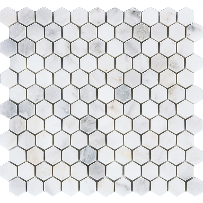 Honeycomb Carrara Marble Stone Tiles,Kitchen Backsplash,Bathroom Shower Wall/Floor decor,Home Improvement,Free Shipping,LSMBH05 strong view pebble ceramic mosaic tiles for bathroom shower floor kitchen backsplash swimming pool home garden decor tile lsyb14