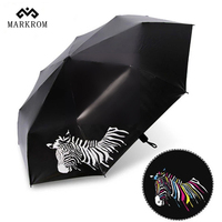 2017 New Fashional Color Change Print Folding Super Large Creative Umbrella With Advanced Technology Ensure Your
