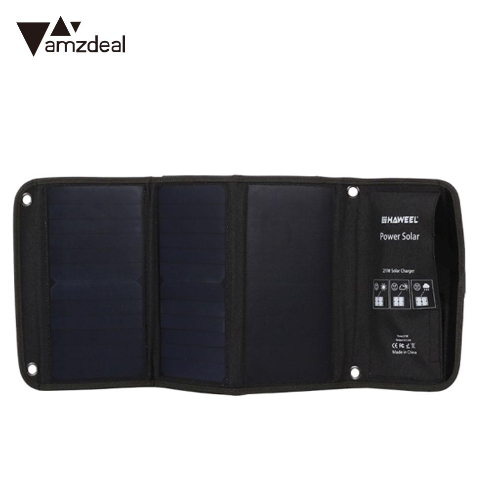 Folding Solar Panel Phone Charger Monocrystalline Silicon Portable Solar Generator Travel Fast Charger 21w Tablet