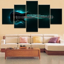 Home Decor Canvas 5 Pieces HD Printing  Painting Guitar Poster Music Modern Type For Bedroom Living Room