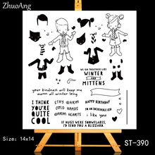 ZhuoAng Hey, happy birthday Transparent and Clear Stamp DIY Scrapbooking Album Card Making Decoration