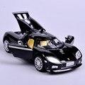Коллекционные 1:32 Масштаб Черный Koenigsegg Мини Металлического Сплава Литья Под Давлением Модели Автомобиля Звук и Свет Отступить Автомобиль Игрушки Детей Игрушки Подарок