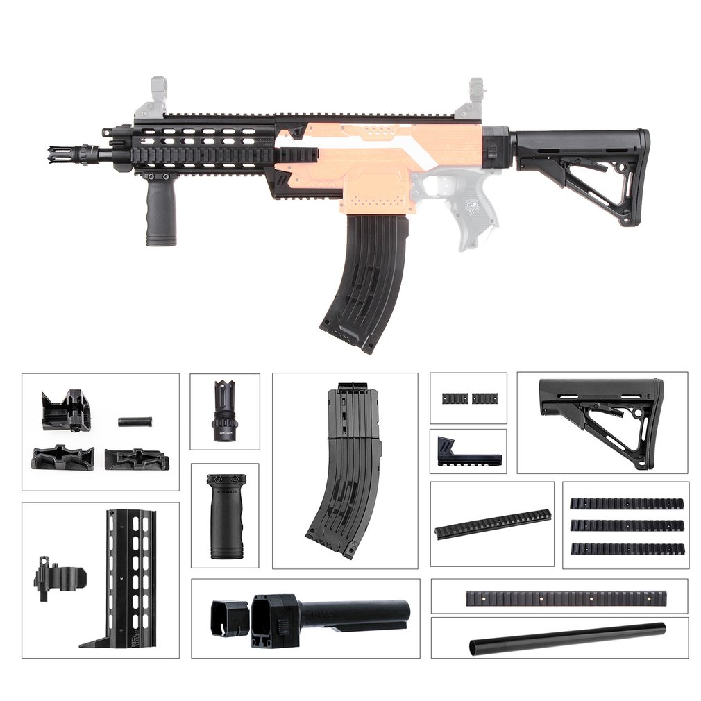 3D Printing Durable Plastic Mod Extend Barrel Dress Up Kits Combo 17 Items for Nerf STRYFE Modify Toys Gift DIY Toy Gun Parts3D Printing Durable Plastic Mod Extend Barrel Dress Up Kits Combo 17 Items for Nerf STRYFE Modify Toys Gift DIY Toy Gun Parts