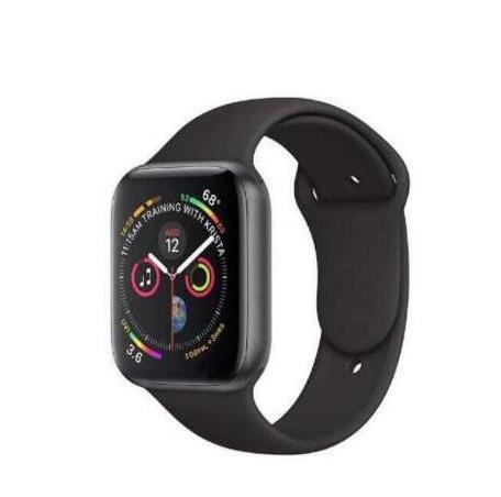 IWO noir horloge Bluetooth sport montre intelligente série 4 avec moniteur de fréquence cardiaque Smartwatch pour Android iOS Apple iphone 6 7 8 X