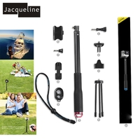 Jacqueline for Bluetooth Accessories Tripod Mount Selfie Stick Monopod for Gopro Hero 5 4/3+/3/2 for SJCAM for yi/Cellphone/DRSL