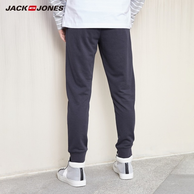 JackJones Men's Stretch Jogger Pants with Zipper Pockets Men's Slim Fit Sweatpants Men's Fitness Trousers 2019 New 219214503 3