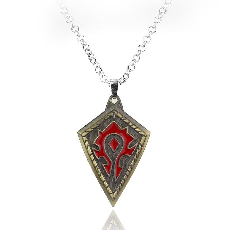 2 Colors WoW Horde Symbol Metal Necklace For Women Men  skull necklace raven skull