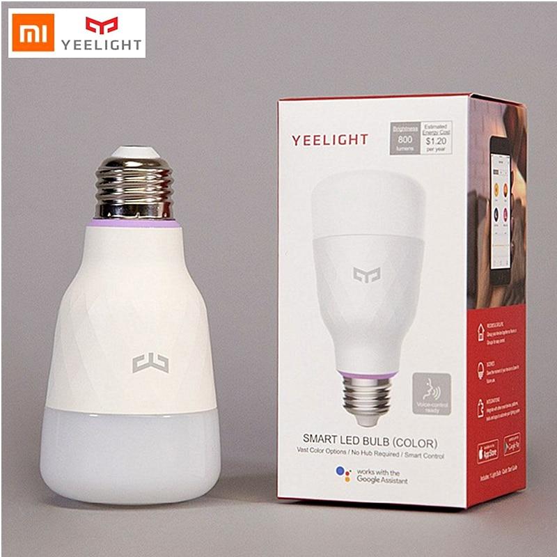 Yeelight light Bulb LED colorful RGB wifi xiaomi smart home remote control E27 10W for mijia phone APP Alexa Google Assistant