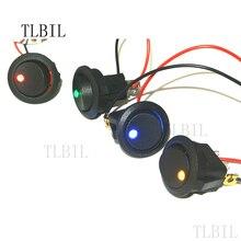 1 шт. 20A 12 В SPST светодиодный практичный Точечный светильник, автомобильный лодочный Круглый Рокер ВКЛ/ВЫКЛ переменного тока, 4 цвета, высокое качество