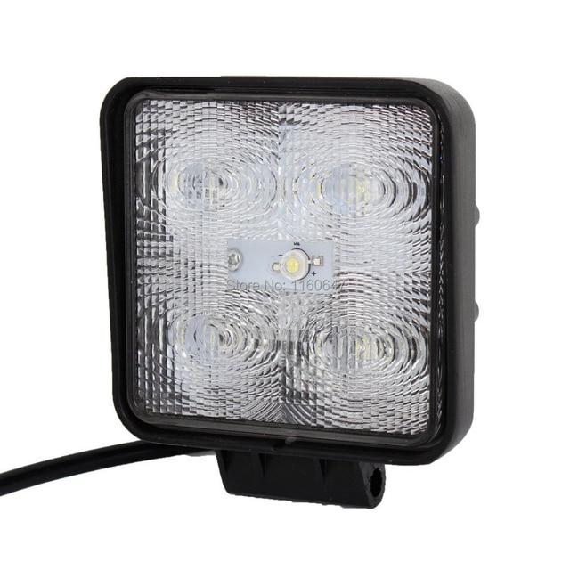 10PCS 4INCH 15W LED FLOOD BEAM WORK LAMP LIGHT DRIVING ...