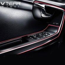 Vtear автомобилей Стайлинг Литье отделка ленты декоративные нити интерьер для hyundai creta ix25 ix35 Toyota C-HR CHR RAV4 аксессуары