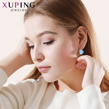 Xuping Luxury Christmas Gifts Crystals from Swarovski Colorful Earrings Charm Women Gift XE2115