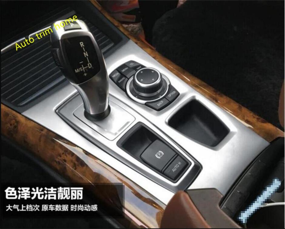 For BMW X5 E70 2009 - 2013 / X6 E71 2010 - 2014 Stainless Steel Gearshift Knob Panel Molding Garnish Cover Trim 1 Pcs кабель кгхл 71 5 куплю цена