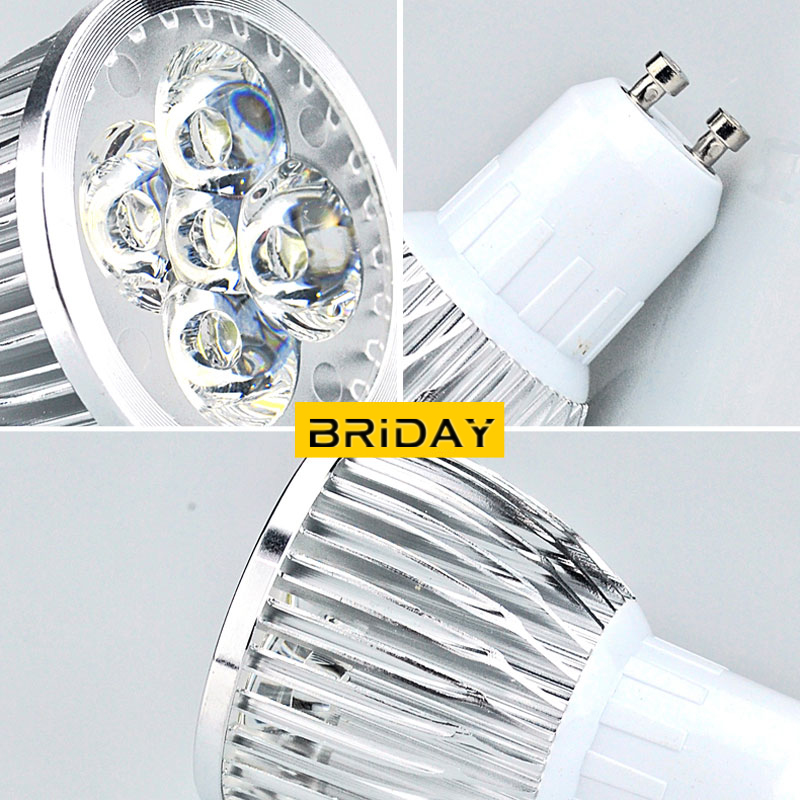Купить с кэшбэком LED spotlight 9W 12W 15W GU5.3 AC110V 220V Led Lamp light MR16 High Power  GU5.3 Lampada Dimmable MR16 AC&DC 12V led bulbs