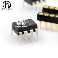 Hifivv áudio op amp Japão dual amplificador operacional muses02 musas 02 IC chip duplo canal de alta fidelidade de áudio amplificador de op