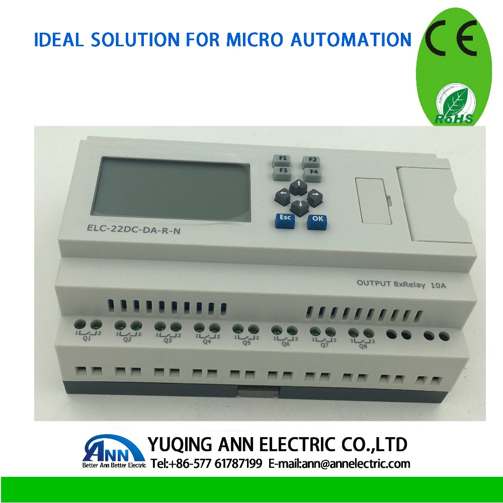 PLC Ethernet PLC, ELC-22DC-DA-R-N-HMI,, built-in Ethernet capacità