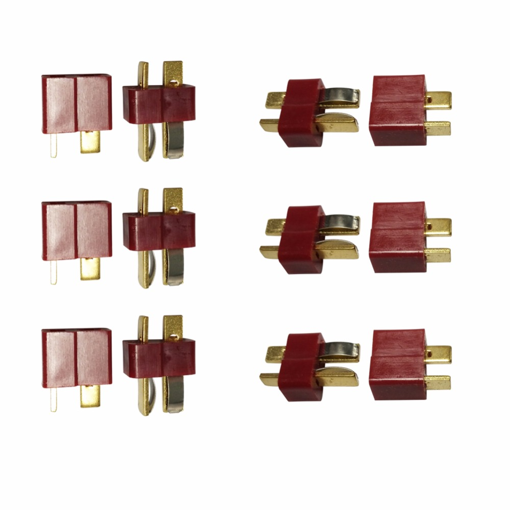 50 Pairs lot T plug helicopter part For ESC font b Battery b font male and