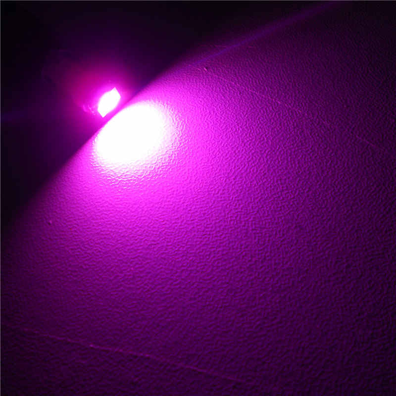 12 V LED Mor Renk araba ampulü Lamba T5 (1*5050 SMD Lamba) için W1.2W W2.3W W2X2.6d Pano Küllük sinyal ışığı