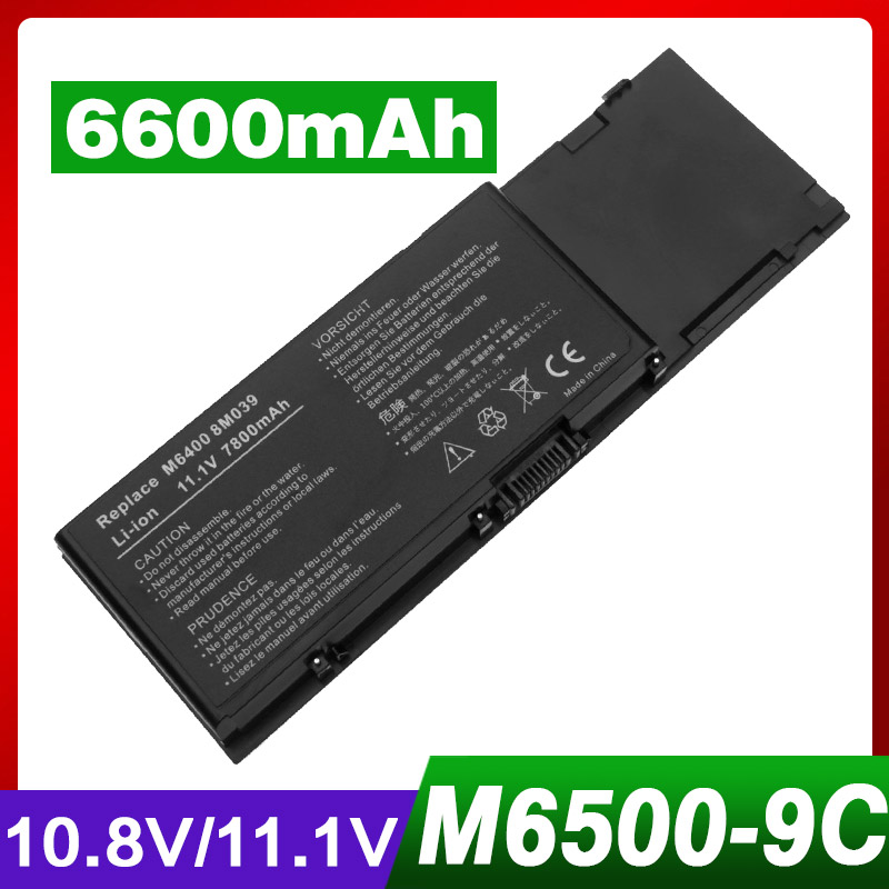 Apexway 6600mAh 9 cell Laptop Battery for DELL Precision M6400 M6500 312-0873 8M039 C565C KR854 DW842 apexway 6600mah 9 cell laptop battery for dell btyvoy1 for alienware m17x r3 r4 mx 17xr3 mx 17xr4 318 0397 451 11817 7xc9n c0c5m