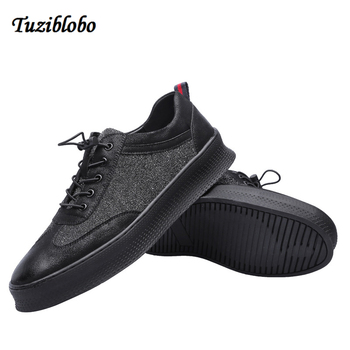2018 Winter Autumn New Men Casual Flat Shoes Lace-Up Round Toe Male Fashion Loafers Platform Shoes Chaussures Hommes En Cuir
