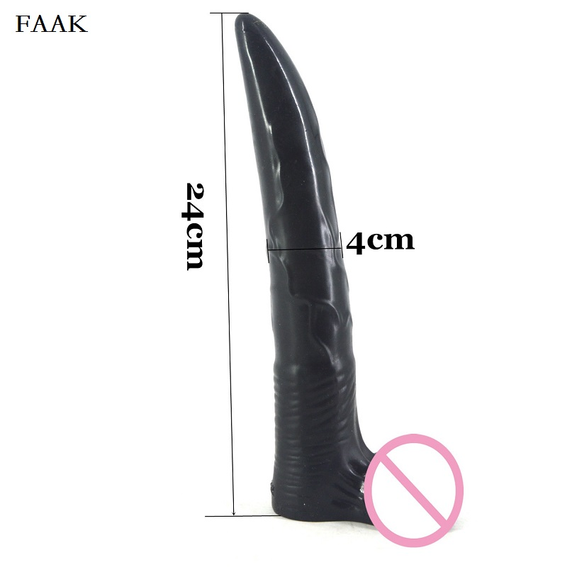 FAAK Sex Shop Dildos Supper Long Penis Sex Toys For Femal Masturbation, Silicone Adult Sex Products 24*4CM 372g wearable penis sleeve extender reusable condoms sex shop cockring penis ring cock ring adult sex toys for men for couple