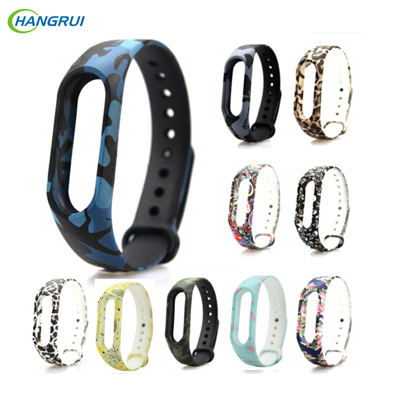 HANGRUI Replace Miband 2 Silicone Strap for Xiaomi Mi Band 2 Wristbands Colorful Strap for xiomi mi band 2 Smart Bracelet straps