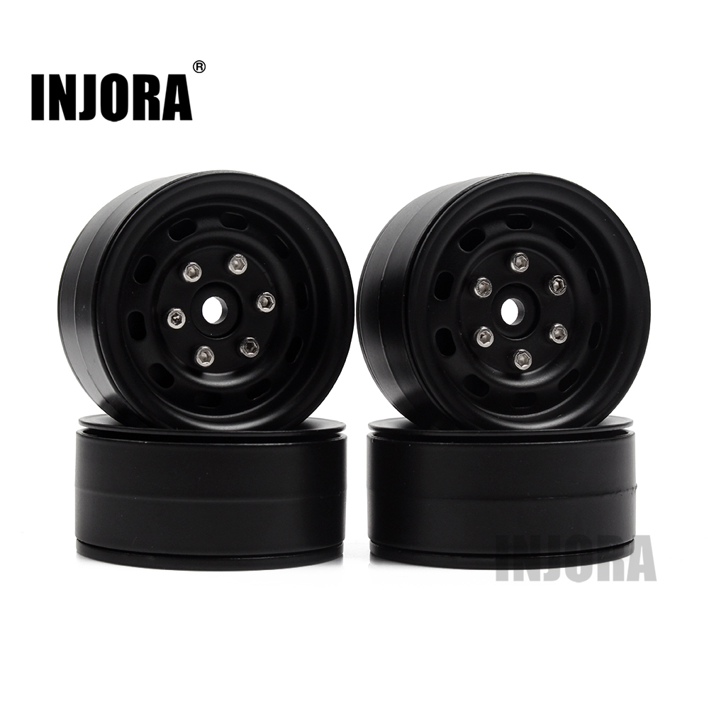 4PCS Metal 1.9 Inch Beadlock Wheel Rim for 1/10 RC Rock Crawler Traxxas TRX-4 Axial SCX10 90046 Tamiya CC01 D90 D110 TF2 2pcs 2 2 metal wheel hubs for 1 10 scale rc crawler car nv widen version outer beadlock wheels diameter 64 5mm width 43 5mm