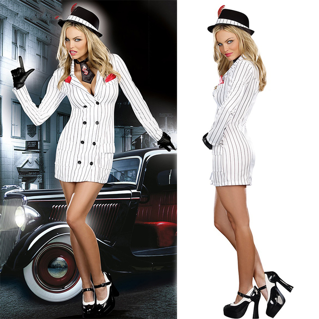 Gangster Gal Ladies Fancy Dress Mafia Moll 1920s Womens Adults Costume  Outfit halloween costumes for women 9e34b93c2