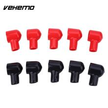 10PCS Black Red Storage Battery Terminal Boot Insulating Cover 20x12MM