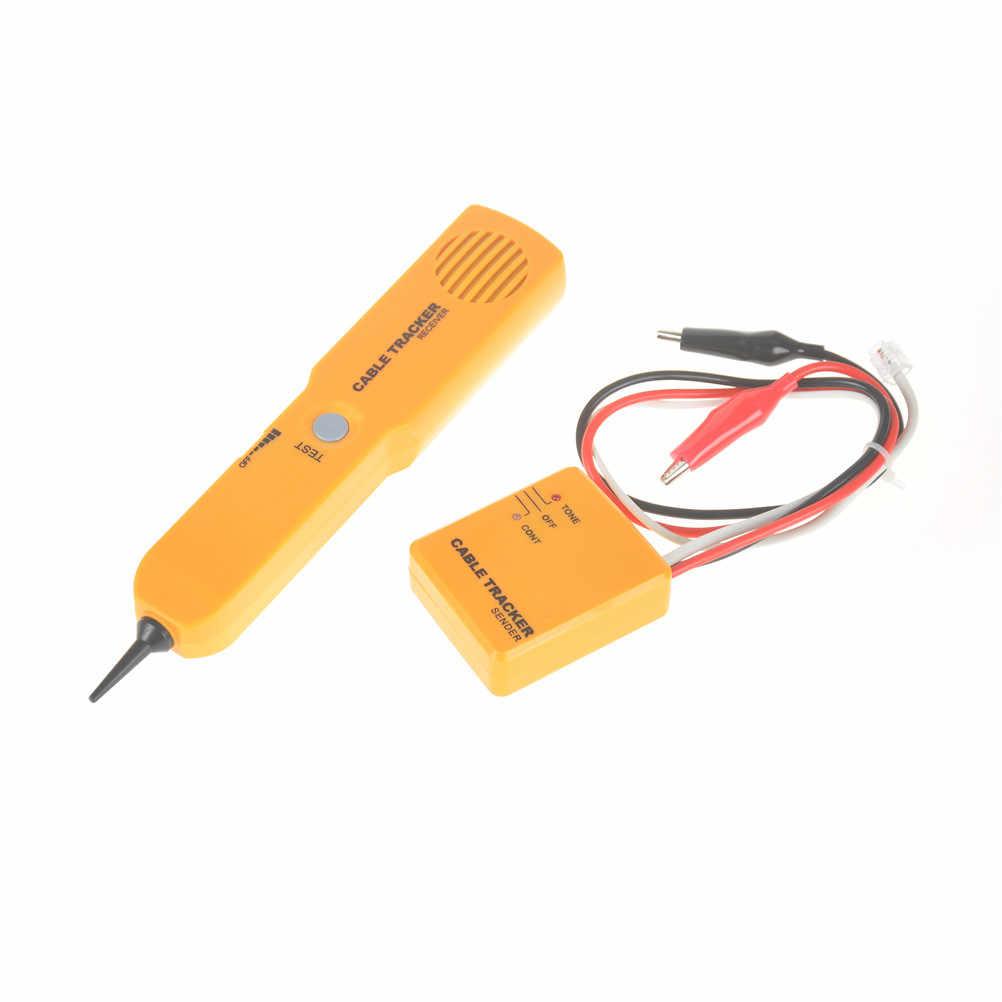 Taşınabilir RJ11 Ağ Telefon Telefon Kablosu Test Cihazı Toner Tel Tracker Tracer Teşhis Bulucu Dedektörü Ağ Araçları