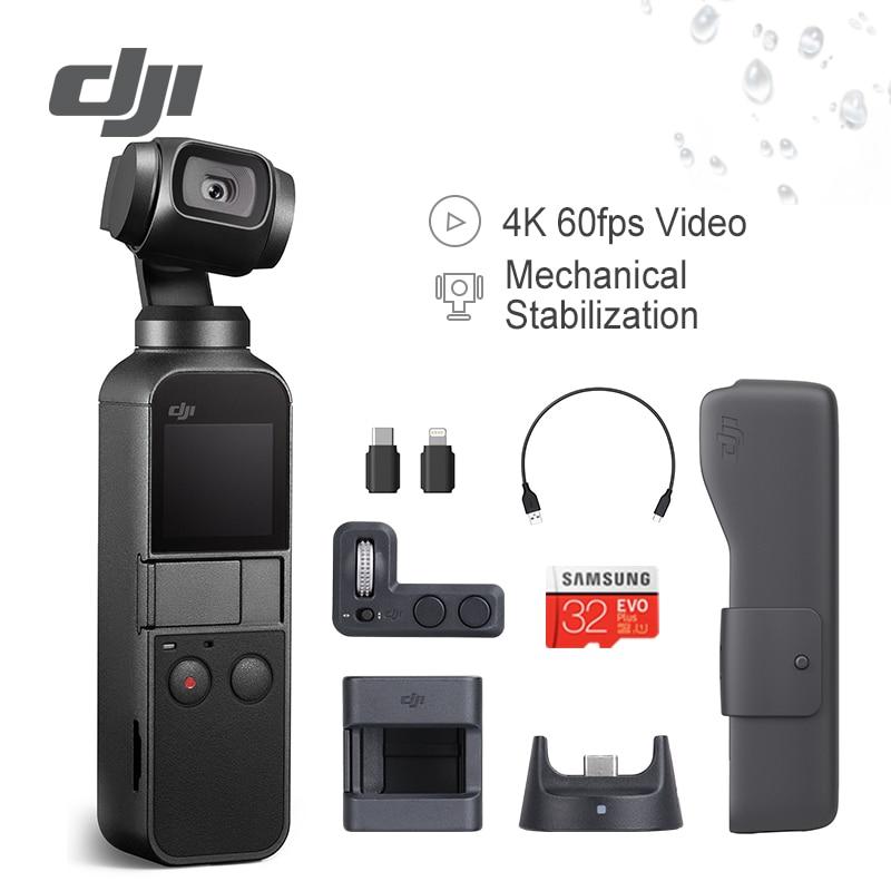 DJI Osmo 3-eixos Estabilizado de Bolso Handheld Câmera Compatível com Smartphone 4 k 60fps Vídeo Estabilização Mecânica Leve
