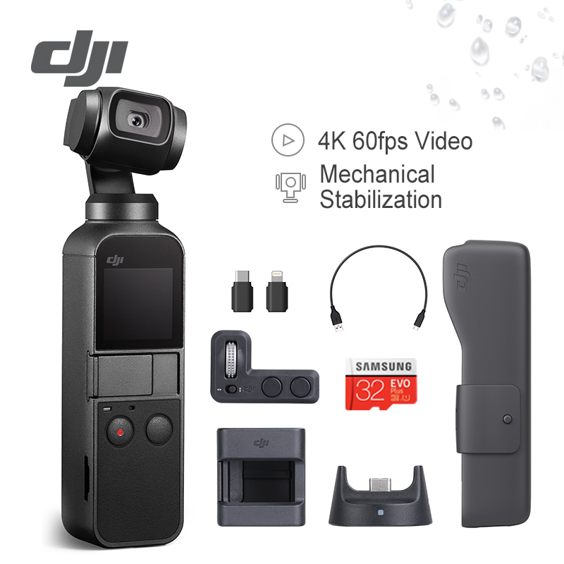 DJI Osmo Pocket Stabilizer 3 Axis Handheld Camera Gimbal With 4K 60fps Video Compatible for Smartphone Expansion Kit Accessory