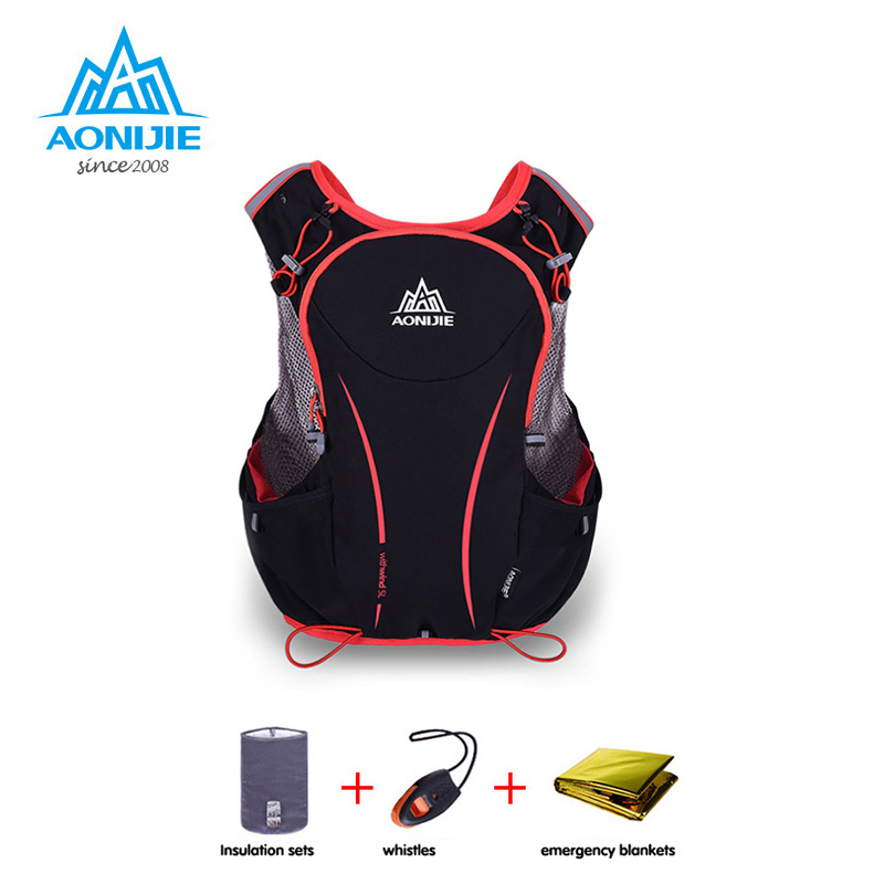 AONIJIE 5L Outdoor Sports Backpack Women / Men Marathon Hydration Vest Pack for Exchange Cycling Hiking Water Bag 10l professional hydration bag bicycle backpack for men road packsack rucksack vest bag hydration pack women s shoulder bags 508