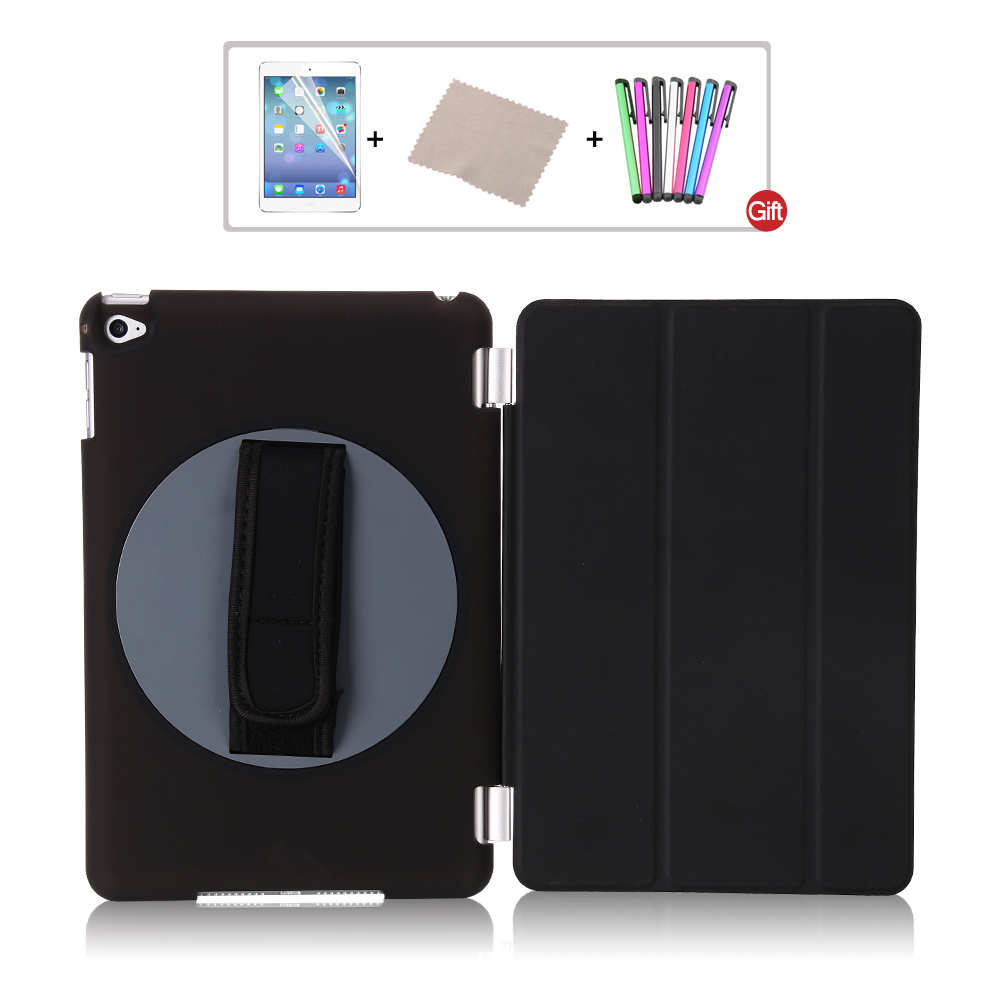 for ipad mini 4 Case 360 Degree Rotating Stand pu leather smart wake up sleep with hand strap for apple ipad mini4 cover bosch 0601063208 gll 2 80 p bm1 в l boxx