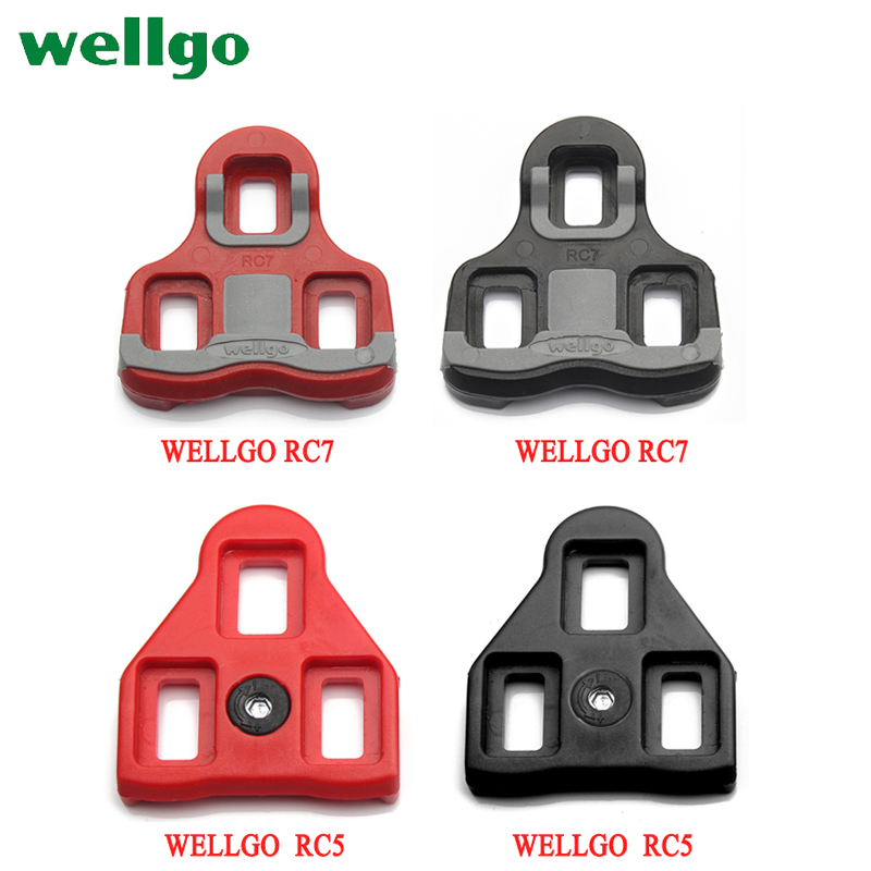 Wellgo Bicycle Pedals Lock Cleats Accessories RC7 Black/Red road bike shoes Cleats Locking Plate / Splint(China)