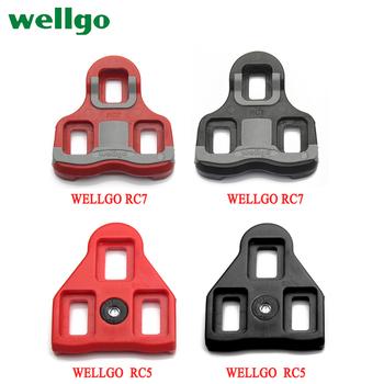 Wellgo pedały rowerowe blokady knagi akcesoria RC7 czarne czerwone buty rowerowe knagi blokujące płytkę szynę tanie i dobre opinie Rowery drogowe RC7 RC5 spd 6 7*6 2*1 3CM Z tworzywa sztucznego Samohamowność pedału
