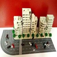 33Pcs 1:144 3D Battle Damaged Building Outland Model Railway Office Scene Gift Hand Work Plastic ABS Assemble Game Set